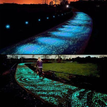 dizajn parka, dizajn interijer, eksterijer, svijetleci pijesak, glow in the dark, sand, concrete